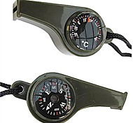 3-in-1 Survival Whistle with Compass and Thermometer-  Green
