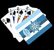 Недорогие -Персональный подарок Blue Anchor полосатый рисунок Playing Card для покера