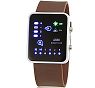Men's Creative Binary Display LED Digital Silicone Band Wrist Watch (Assorted Colors) Cool Watch Unique Watch