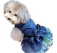 cheap -Cat Dog Dress Dog Clothes Holiday Birthday Wedding Sequin Red Blue Golden Costume For Pets