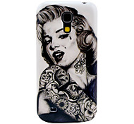 Padrão Tattoo Girl Case Capa dura para Samsung Galaxy S4 Mini I9190