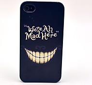 Un patrón de la sonrisa Mad Evil tapa dura para el iPhone 4/4S