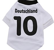 Cat Dog Shirt / T-Shirt Jersey Dog Clothes Sports Letter & Number White Costume For Pets