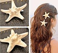 cheap -Shixin® European Starfish Shape White Cowry Barrettes For Women(Ramdon Size)(1 Pc) Mermaid