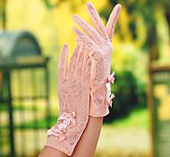 Недорогие -Кружева До запястья Перчатка Свадебные перчатки Вечерние перчатки Рабочие перчатки With Бант