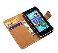 Подлинная кошелек кожаный чехол для Nokia Lumia 520 Стенд с держателем кредитной карты Новое прибытие