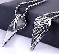 Presente personalizado Asa Shapes jóia de aço inoxidável gravado colar de pingente com 60 centímetros Cadeia