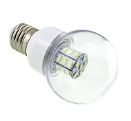 E26/E27 LED Globe Bulbs G60 27 SMD 5730 500lm Cold White 5500~6000K DC 12 AC 12 AC 24 DC 24V