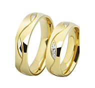 Men's Women's Couple Rings Band Rings AAA Cubic Zirconia Love Luxury Stainless Steel Gold Plated Imitation Diamond Circle Jewelry Jewelry