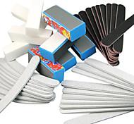 40PCS 5 Types Nail Art Fichiers & tampons blocs (__gVirt_NP_NNS_NNPS<__ Types fleur) ensemble de manucure pour les ongles en acrylique