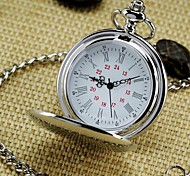 cheap -Men's Mirror Round Roman numeral Dial Vintage Quartz Analog Pocket Watch Cool Watch Unique Watch Fashion Watch