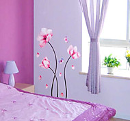 cheap -Flower Pattern Wall Sticker(1PCS)