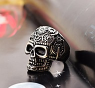 Fashion Pattern Skull  Men's Stainless Steel Ring Christmas Gifts