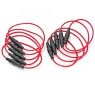 Недорогие -5 х 20 мм предохранителей Держатель - (красный + черный) (10 шт)