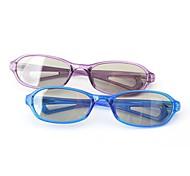m&gafas 3d retardador luz polarizada k modelado de childern pasiva para imax reald cine (4 piezas)