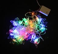 5M 40 LED Multicolor borboleta Luz Festa de casamento de Cordas Natal lâmpada (AC220V)