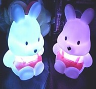 Coway Turnip Rabbit Colorful LED Night Light Cute Little Rabbit Wedding Supplies