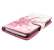 For Samsung Galaxy Case Card Holder / with Stand / Flip / Pattern / Magnetic Case Full Body Case Flower PU Leather Samsung S5 Mini