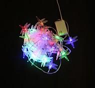 Недорогие -40-светодиодный многоцветный цветной стрекозы длиной 5 м