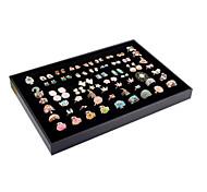 Недорогие -Коробки для бижутерии Геометрической формы Черный Фланелет Бумага Для вечеринок Повседневные