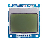 "cheap -1.6"" Nokia 5110 LCD Module with Blue Backlit for (For Arduino)"