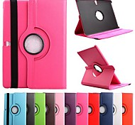cheap -Case For Tab S 10.5 Samsung Galaxy Samsung Galaxy Case with Stand Flip 360° Rotation Full Body Cases Solid Color PU Leather for