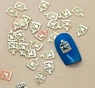 Недорогие -200шт птичья клетка форма ломтик металл украшение искусства ногтя