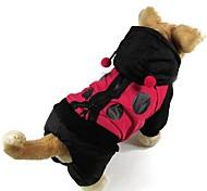 Cat / Dog Coat Black Dog Clothes Winter / Spring/Fall Color Block Fashion / Keep Warm