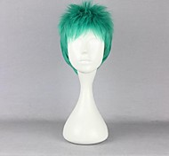 Cosplay Wigs One Piece Roronoa Zoro Green Short Anime Cosplay Wigs 30 CM Heat Resistant Fiber Male
