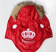 Cat / Dog Coat / Hoodie Red Dog Clothes Winter / Spring/Fall Tiaras & Crowns Keep Warm