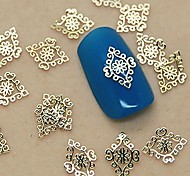 cheap -200PCS Golden Vintage Royal Metal Slice Nail Art Decoration