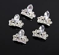 10pcs Glitter Crown Large Crystal Rhinestone 3D Alloy Nail Art Decoration
