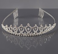 cheap -Alloy Tiaras Headwear with Floral 1pc Wedding Special Occasion Headpiece