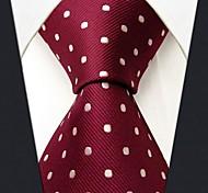 Недорогие -s15 shlax&крыло красные точки темно-бордовый галстук свадьбы мужской галстук мода удлиненные