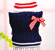 cheap -Dog Sweater Dog Clothes Color Block Red Blue Cotton Costume For Pets Men's Women's Casual/Daily Fashion