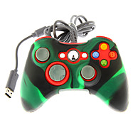 cheap -Wired Dual Shock Controller with Silicone Skin Cover for Xbox 360