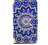 Old Retro Flower Pattern PU Leather Cover Full Body Case with Card Slot for Nokia Lumia N520