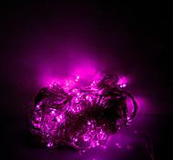 10m 100 светодиодов Рождество Хэллоуин декоративные огни праздничного полосы света-обычный свет строка светло-розовый (220В)