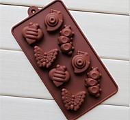 Недорогие -8 отверстий форма улитки гусеница торт льда желе шоколадные формы, силиконовые 19,2 × 10,6 × 2 см (7,6 × 4,2 × 0,8 дюйма)