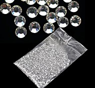 cheap -20000Pcs 1.5mm Clear Round Rhinestones Hard Case Nail Art Decorations Acrylic UV Gel
