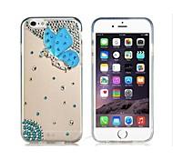 Недорогие -бабочка шаблон кристалл&горный хрусталь украшен пластиковой случай для IPhone 6 (прозрачный)