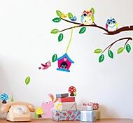 Недорогие -zooyoo® съемный игру птица на дереве стены стикеры горячие наклейки продажи стены для домашнего декора