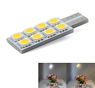 cheap -T10 Car Light Bulbs 0.5W SMD 5050 8 Door Lamp / Turn Signal Light / License Plate Light