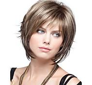 Women Synthetic Wig Short Wavy Bob Haircut With Bangs Halloween Wig Carnival Wig Costume Wig