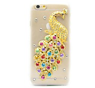 Bling 3D Peacock Pattern Crystal Diamond Rhinestone Hard Case Cover for iPhone 6 Plus (Assorted Colors)