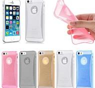 Недорогие -тонкий кристалл свечение мягкого силикона задняя крышка кожа случае для iphone 6 (разных цветов)