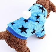 Недорогие -Собака Плащи Одежда для собак Звезды Синий Розовый Костюм Для домашних животных