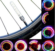 cheap -Bike Lights Wheel Lights Valve Cap Flashing Lights LED Cycling Cell Batteries Lumens Battery Cycling/Bike