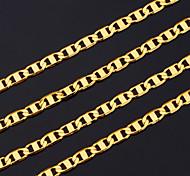 baratos -Homens Chapeado Dourado Colares em Corrente - Cobre Chapeado Dourado Ouro Colar Para Presentes de Natal Festa