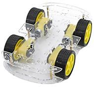 DIY двойной слой 4xmotor умный машина на шасси с измерения скорости кодированного диска